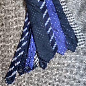 Bundle of 5 Burberry Silk Ties